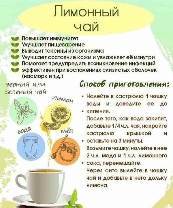 Лимонный чай для иммунитета