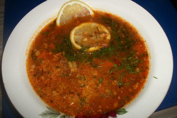 Суп Харчо с шафраном