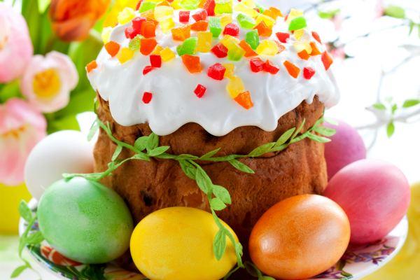 Пасхальные яйца и кулич