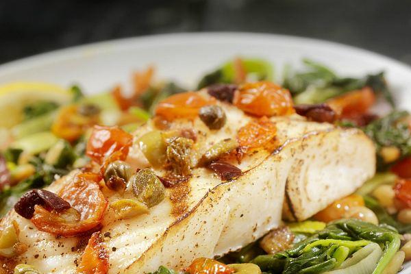 Рыба под овощами по-итальянски