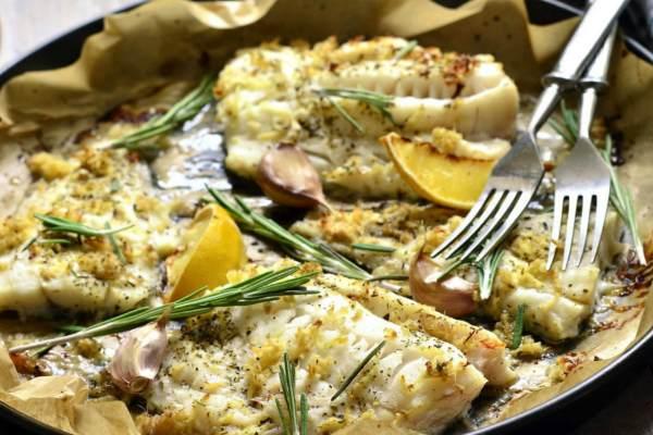 Рыба под соусом бешамель