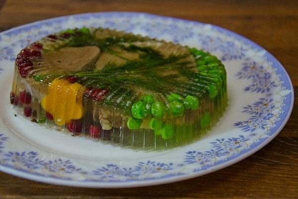 Заливное блюдо с желатином