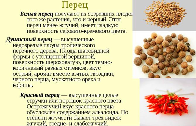 Виды перца
